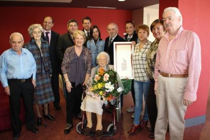Homenaje a Victoria García por su cien cumpleaños