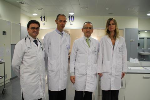 Los doctores Ricardo Fernández, Nicolás Guerra, Pedro Ensunza y Juana Amadoz