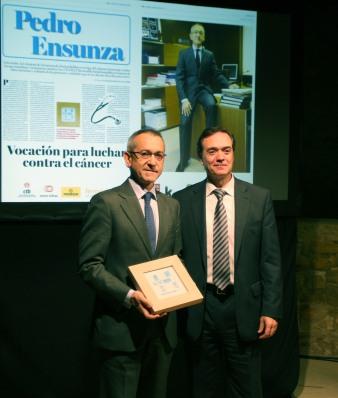 El doctor Pedro Ensunza, Premio Hemendik Saria