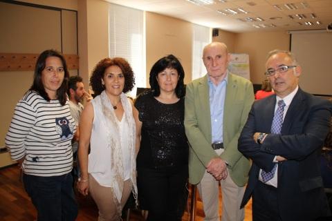 Desde la izquierda, Miren Garay, Raquel García Cendón, Asunción Toquero, Gonzalo Ortega e Ignacio González