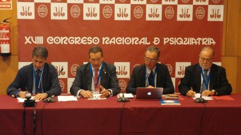 Miquel Roca, Francisco Vidal, Miquel Bernardo y Julio Bobes