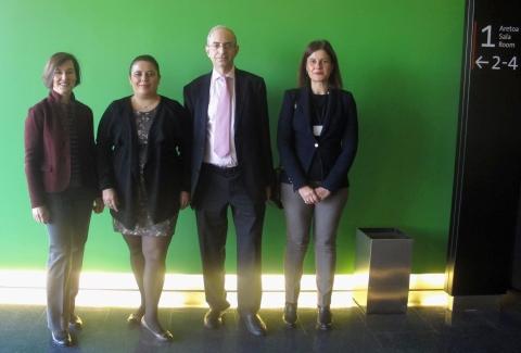Maria Aguirre, Marta Gómez Quintanilla, Juan Riese y Susana Belaustegi