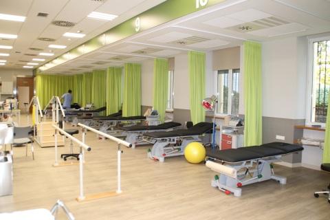 El nuevo gimnasio de rehabilitación tiene casi 300 m2 y cuenta con salas cerradas para la rehabilitación del suelo pélvico