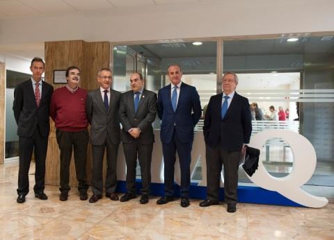Nicolás Guerra, Ricardo Villanueva, Pedro Ensunza, Jon Darpón, Miguel Ángel Lujua y José Luis Picaza